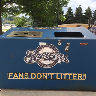 Milwaukee Brewers Fans Don't Litter