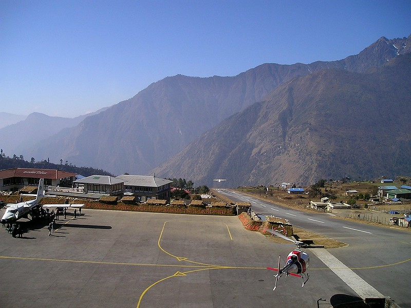 Nepal airport Mt Everest Base Camp