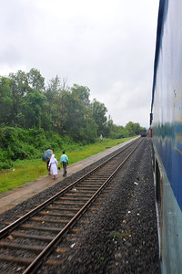 Train ride from Mumbai to Goa, India during the rains