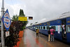 Madgaon railway station. Train ride back to Mumbai from Goa, India during the rains
