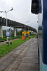 Madgaon railway station. Train ride back to Mumbai from Goa, India during the rains.