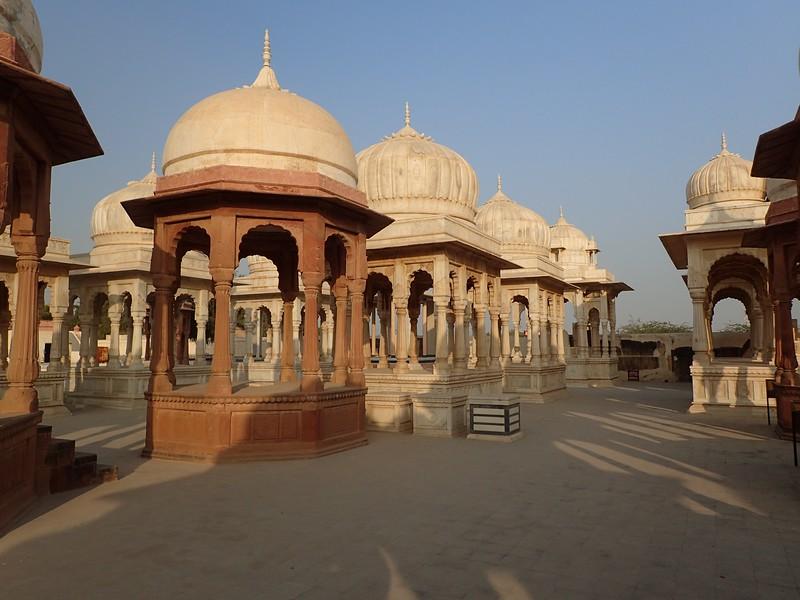 Cenotaphs of the Bikaner royal family.