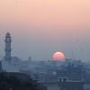 Sunset over Bikaner.