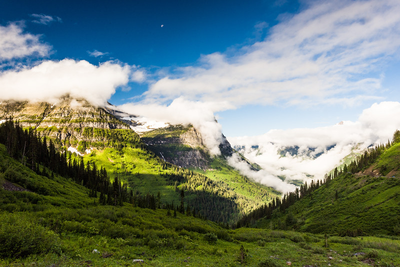 Morning on Going To The Sun Road