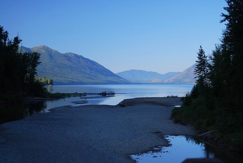Still early passing Lake McDonald.
