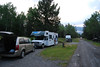 Early saturday morning at our Banff NP campsite, just outside the Town; loading the van for our day trip to Lake Louise.