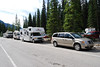 Next stop in Yoho is Emerald Lake; our van on the right.