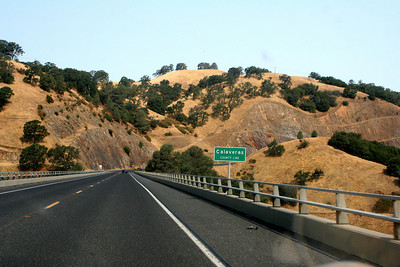 7/8/07 Crossing into Calaveras County from Tuolumne County, Hwy 49N (Mother Lode Hwy). Enroute to Angels Camp/Hwy 4 (Ebbett's Pass Rd), Central Sierra Foothills, Tuolumne County, CA