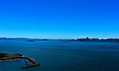 Looking from the vista point towards the Bay Bridge and San Francisco.