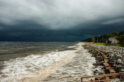 Dark Storm over Sea Island