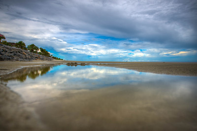 Sea Island Reflection on the Beach