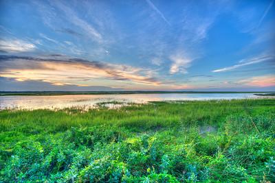Sunset over the Marsh in Sea Island Georgia