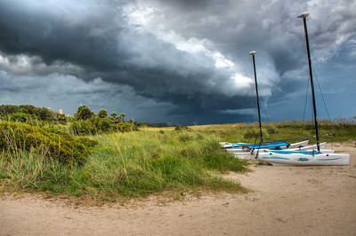 Storm Clouds approaching the beach at Sea Island