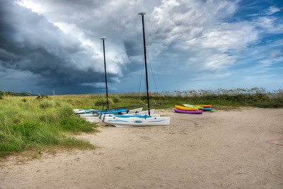 Storm Clouds approaching Sea Island