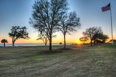 Sunset from the Lodge at Sea Island
