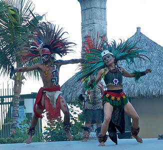 Bahía de Banderas March 2013  Opening day of the Banderas Bay Regatta included this fantastic group Danza Azteca.