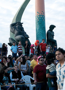 Mazatlán  February 2013  Start point f the first parade on Sunday at the Fishermen's Monument.