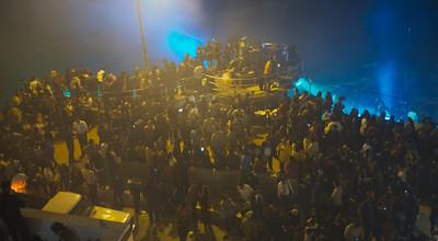 Mazatlán  February 2013  Folks gathered along the beach to watch the fireworks.