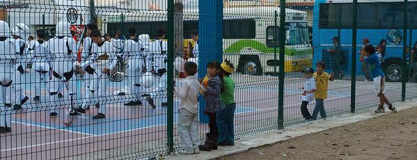 Mazatlán  February 2013  Kids watch storm troops practise dance steps.