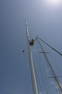 Carey at Staysail Fitting