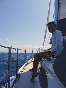 Carey sailing in Bahía de La Paz October 2012  Photo by Kristian