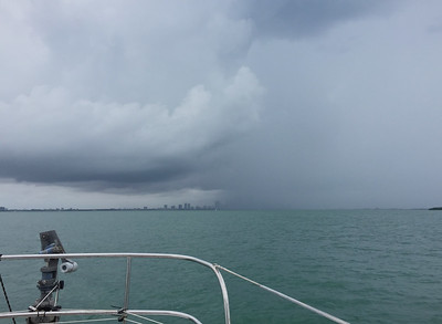Miami being rained on