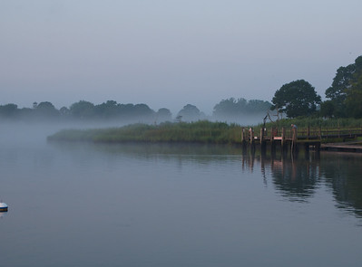 Fog clearing and fishing
