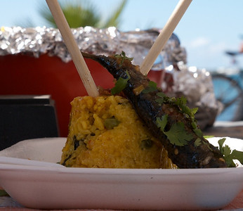 La Paz Mexico Novemeber 2012 Sardine Cook Off!  The Shack's entry. They got my vote.