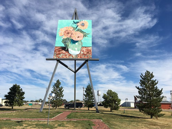 Gigantic tribute to Van Gogh