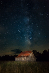 Milky Way over Lewis Barn