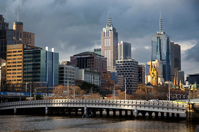 Downtown Melbourne on Yarra River