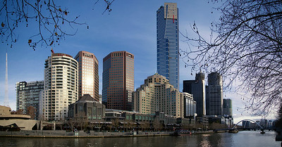 Downtown Melbourne on Yarra River - Southgate