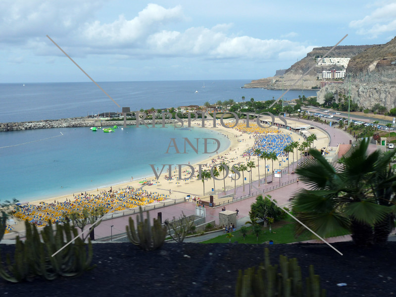 Amadores beach in Puerto Rico, Gran Canaria, Canary Islands.