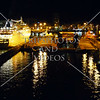 Cruise ship and night view at the port of Las Palmas in Gran Canaria, Canary Islands.