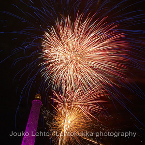 Uudenvuoden ilotulitus - New Year fireworks at  Faro de Maspalomas