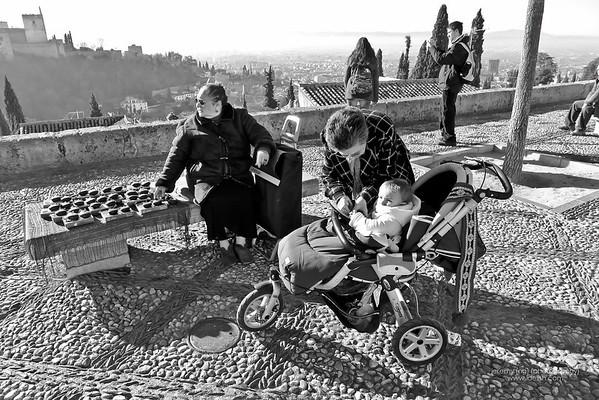 Granada in BW, Spain Jan 3 2012