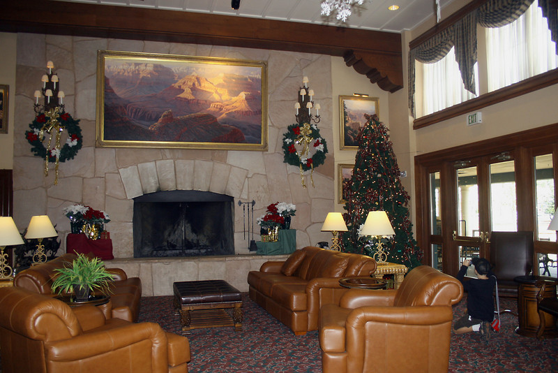 Hotel: lobby at the Grand Canyon Railway Hotel in Williams, AZ (along the historic Rt. 66)