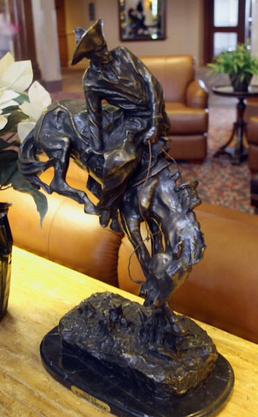 A Remington sculpture at the Grand Canyon Railway Hotel in Williams, AZ