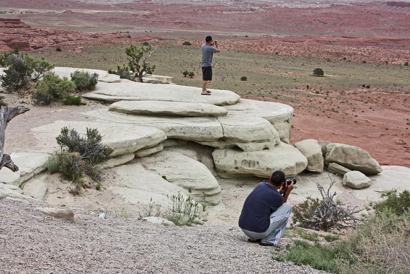Salt Wash Vista Point, Utah - everybody stops to take photos here.