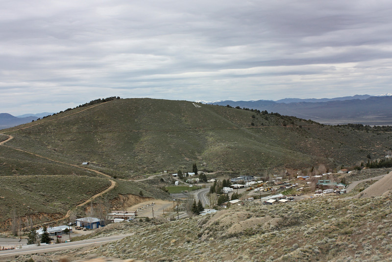 Farewell to Austin, NV - from Highway 50, above