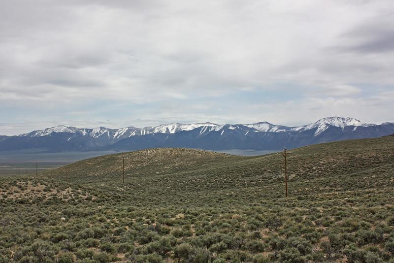 Toiyabe Range, from Highway 50