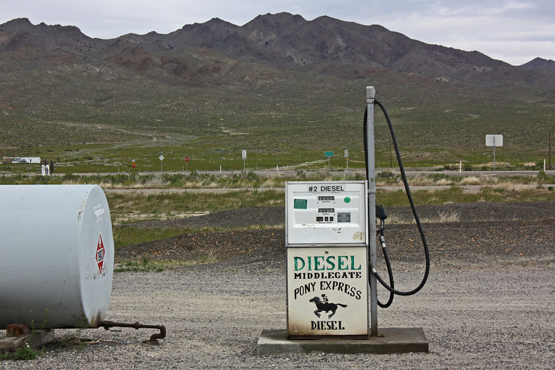 Middlegate, Nevada - gas pump