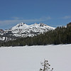 Caples Lake (frozen) and The Sisters