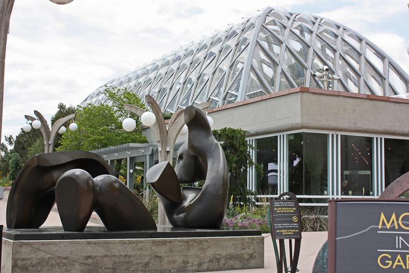 Denver Botanical Garden - Henry Moore sculpture and tropical conservatory