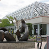 Denver Botanical Garden - Henry Moore sculpture and tropical conservatory