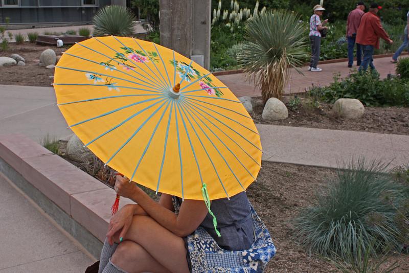 Denver Botanical Garden - young woman with parasol