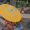 Denver Botanical Garden - young woman with parasol