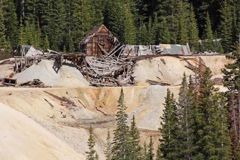 U.S. 550 (the Million Dollar Highway) - San Juan Mts. - abandoned mine works