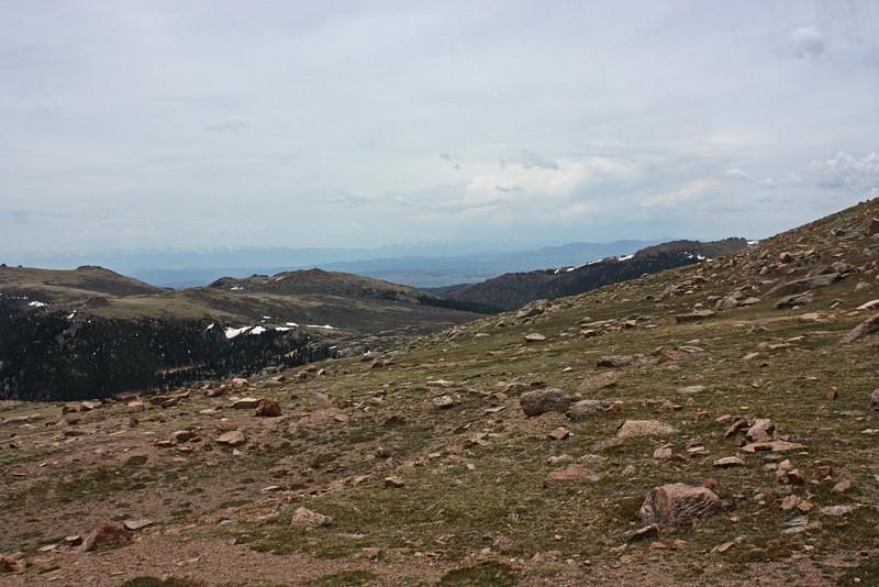 view from Pike's Peak cog railway