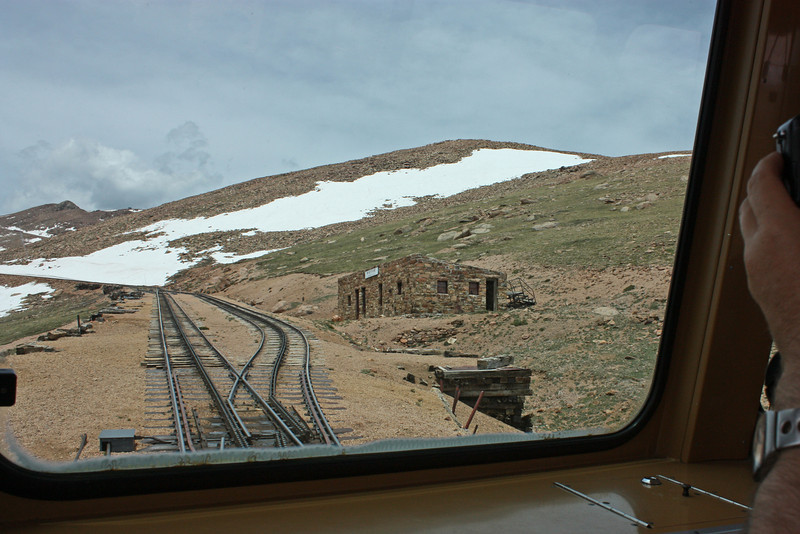 view from Pike's Peak cog railway - Windy Point station